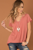 Wrong Way Cold Shoulder Knit Tee