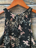Black Floral Glassell Top