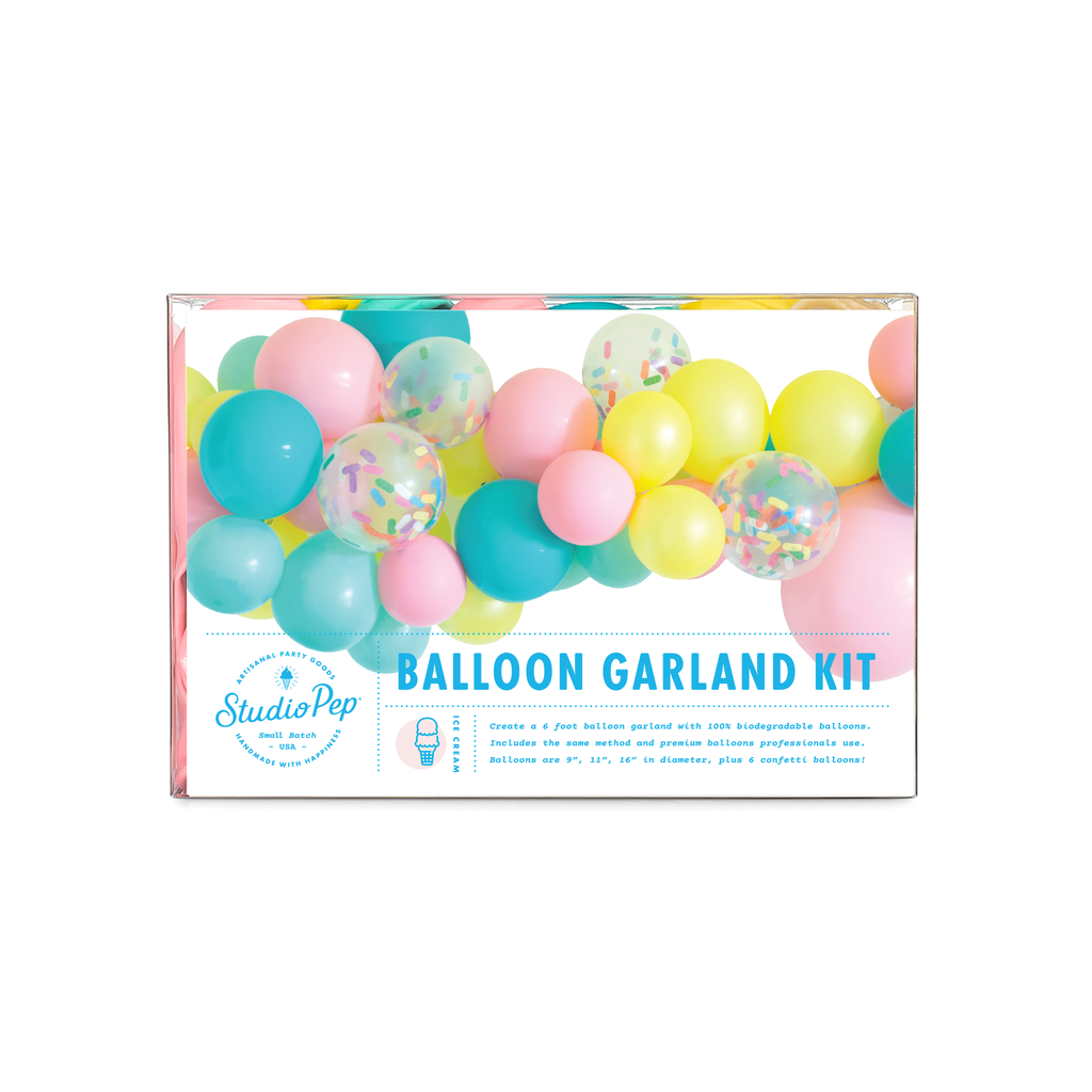 Ice Cream Balloon Garland