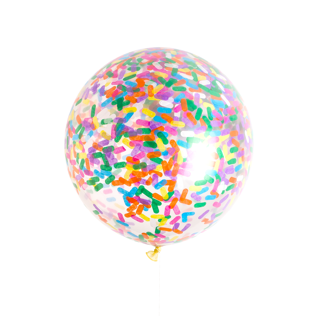 Ice Cream Sprinkles Jumbo Confetti Balloon