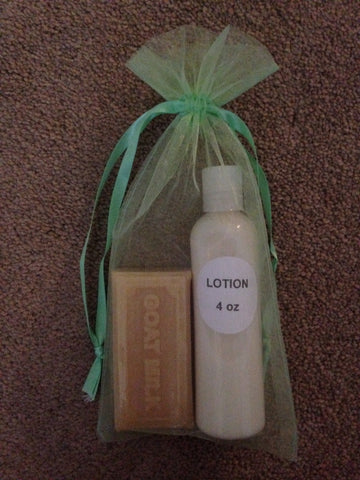 Light green Gift Bag - Goat Milk Etc.