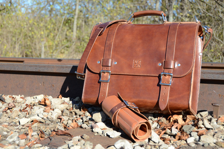 The Heritage collection by WestEast Armory features rugged goods made with beautifully expressive leathers that capture the spirit of times past.