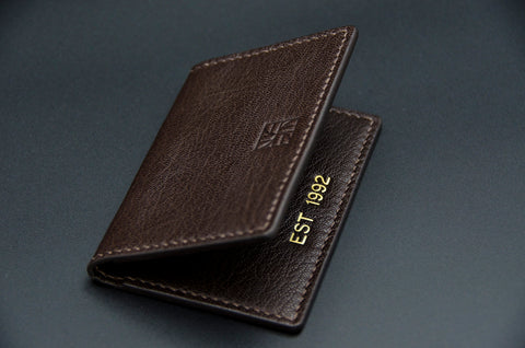 Custom handmade leather slim wallet