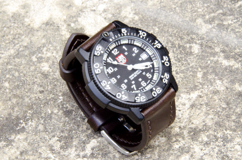 Custom handmade Luminox ILCEA Museum Calf Watch Strap