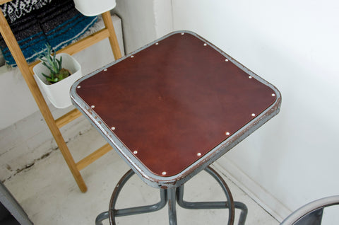 Custom Leather Stool Cover