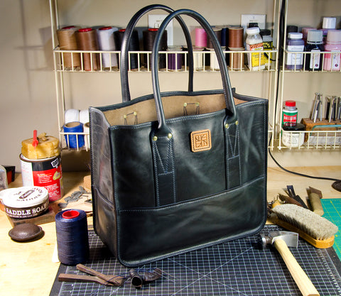 Custom Handmade Horween Chromexcel Leather Tote Bag
