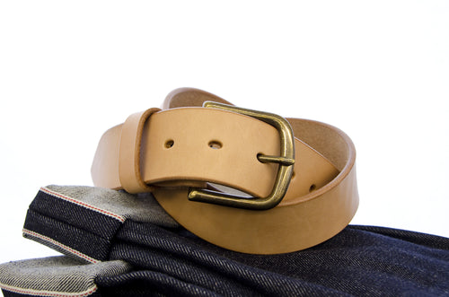WestEast Armory Custom Raw Vegetable Tanned Leather Belt