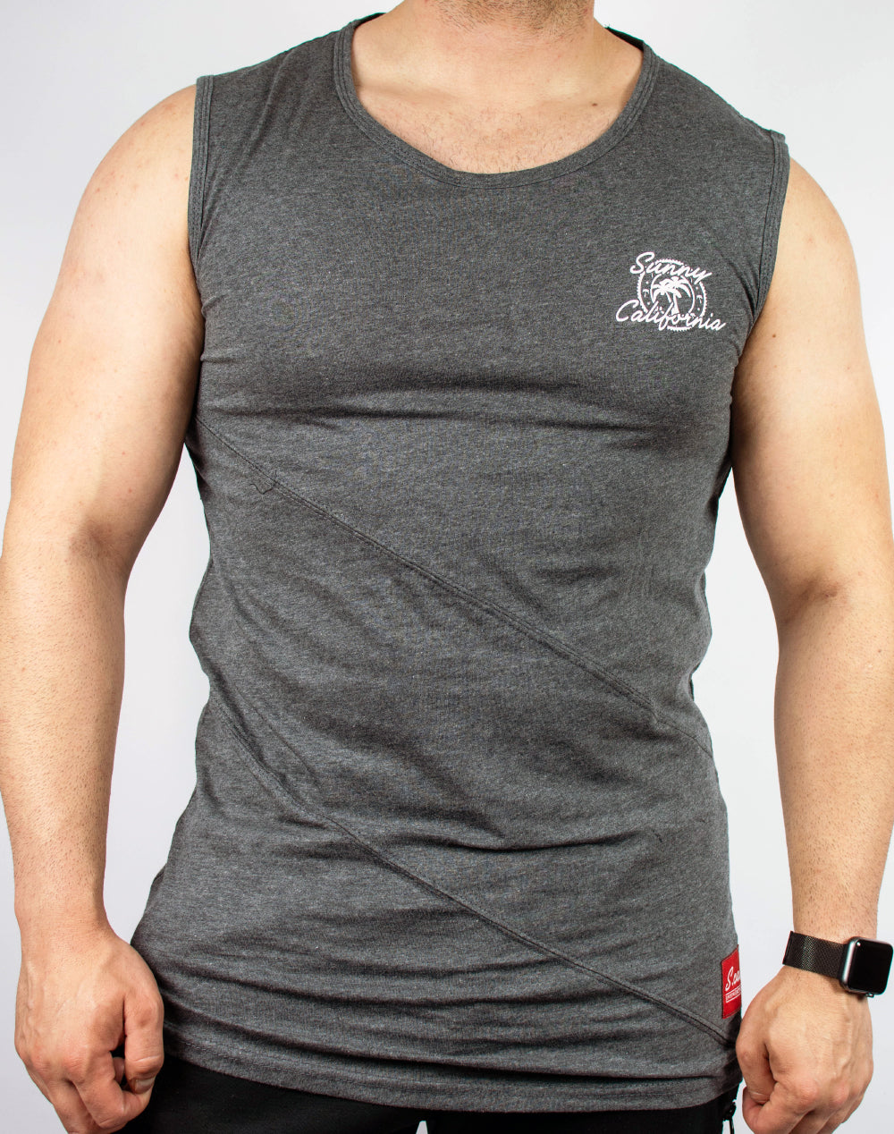 Sunny California Muscle Tank (Charcoal)