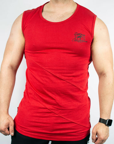 Sunny California Muscle Tank (Red)