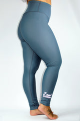 Women's High Waist Leggings - Rare Blue - Scal Clothing