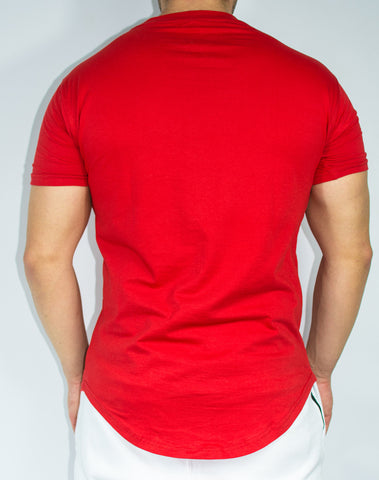 Scal Casual Tee - Red