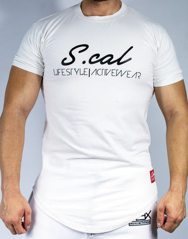 Scal Casual Tee - White