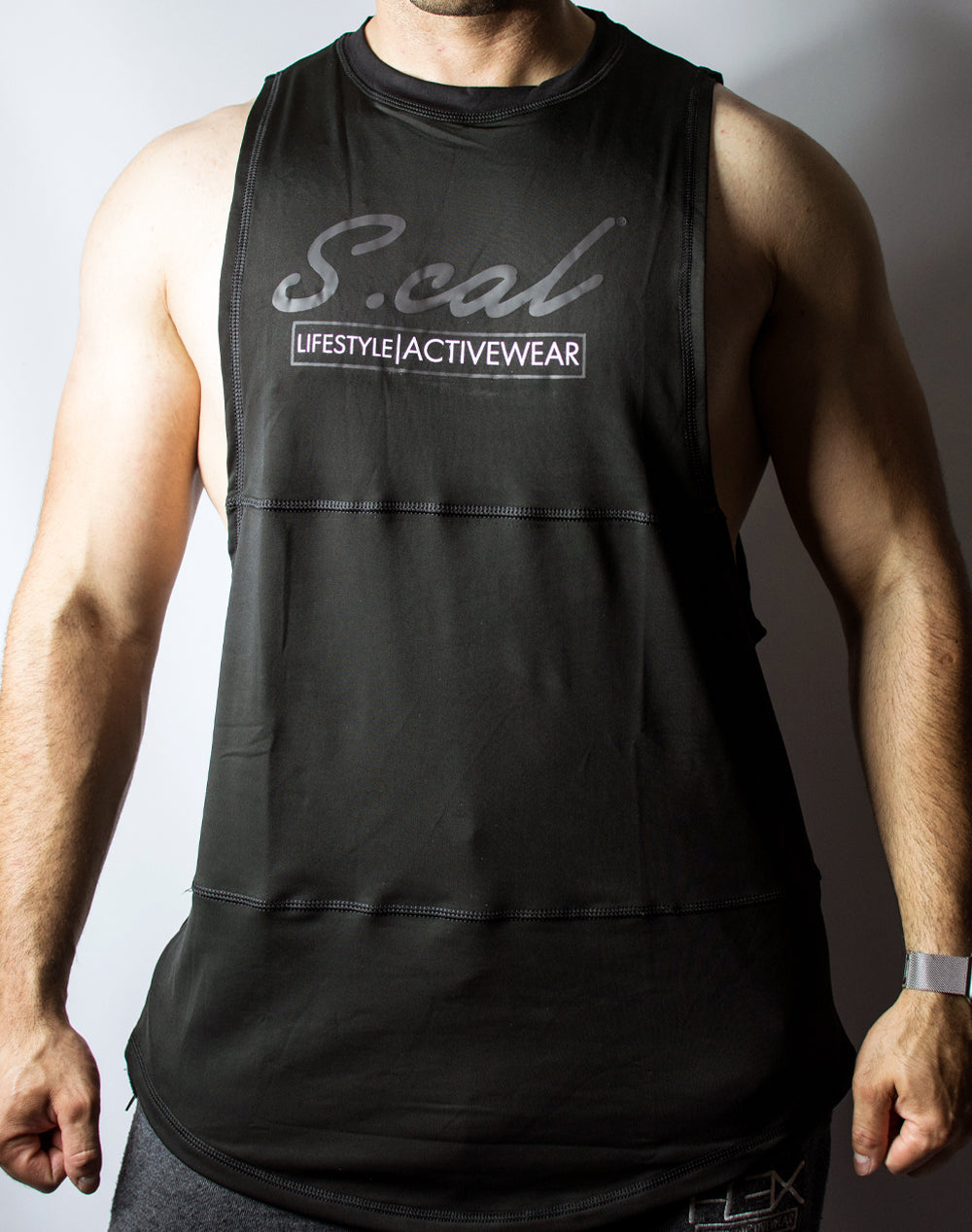Scal Active Cutoff Tee - Black