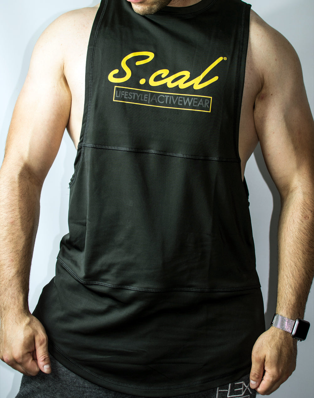 Scal Active Cutoff Tee - Gold