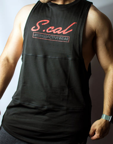 Scal Active Cutoff Tee - Red