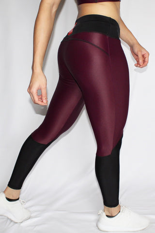 Charisse Collection - Leggings (Maroon) - Scal Clothing - 2