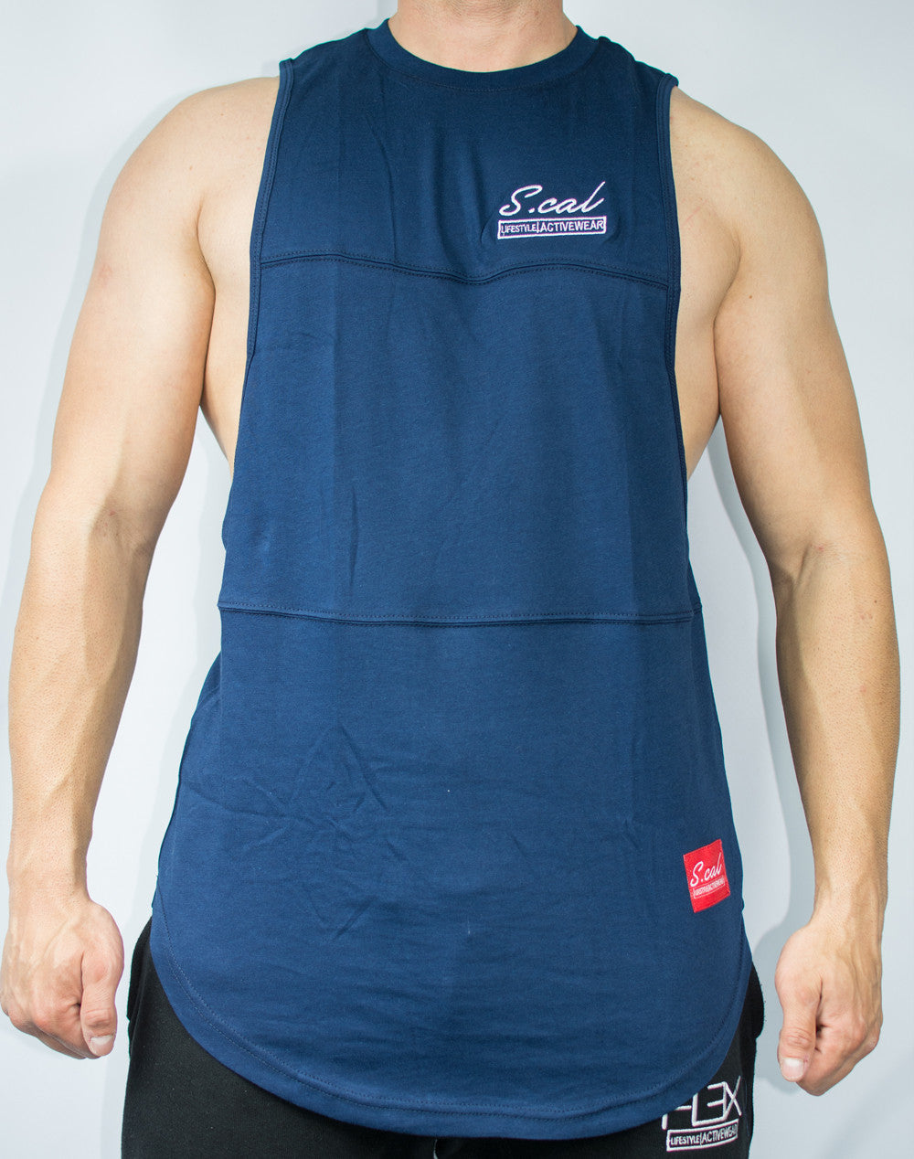 Scal Deluxe Cutoff Tee - Navy - Scal Clothing - 1