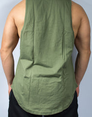 Scal Deluxe Cutoff Tee - Olive - Scal Clothing - 2