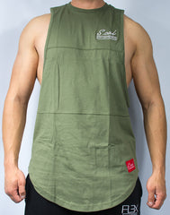 Scal Deluxe Cutoff Tee - Olive - Scal Clothing - 1