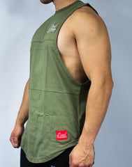 Scal Deluxe Cutoff Tee - Olive - Scal Clothing - 3