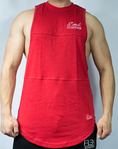 Scal Deluxe Cutoff Tee - Red - Scal Clothing - 1