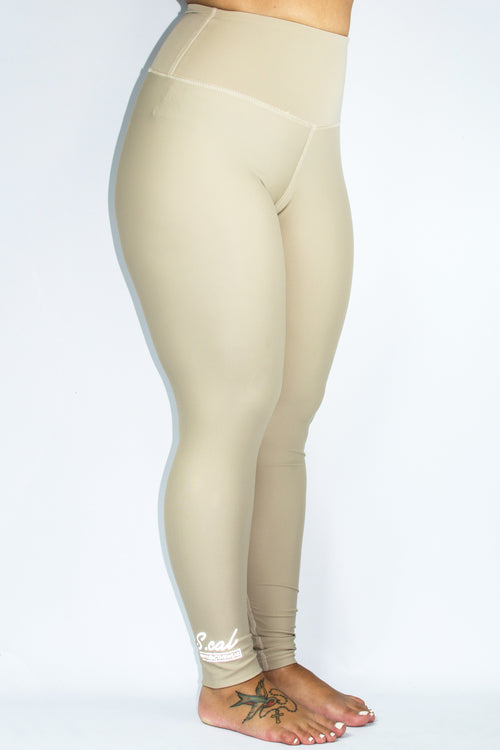 Women's High Waist Leggings - Nude - Scal Clothing