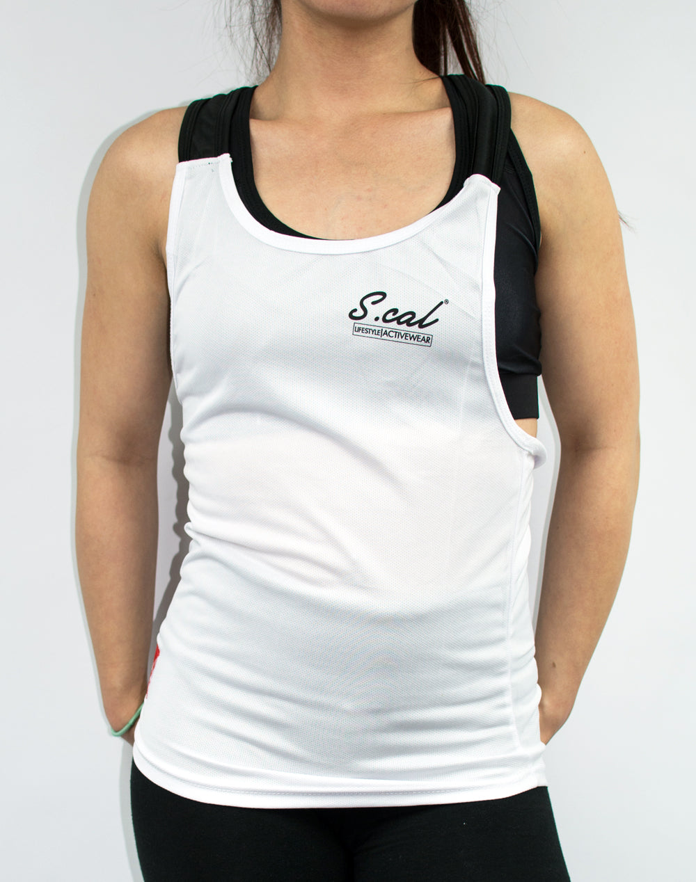 Women's Flexible Tank - White