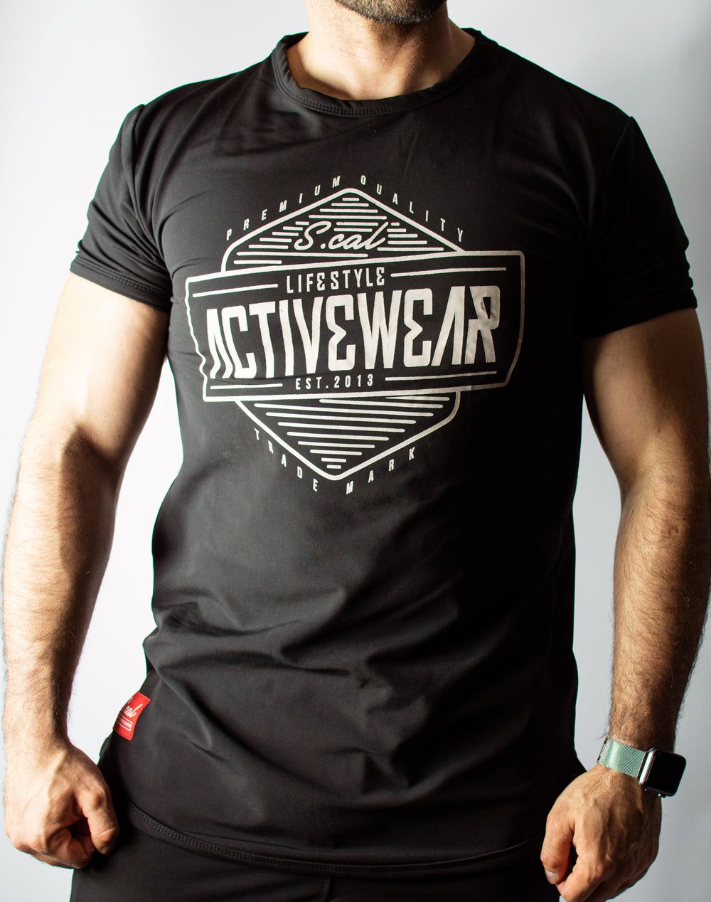 Activewear Tee - Black/Cream