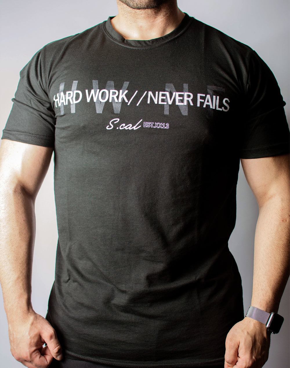 Hard Work Never Fails Tee (Black)
