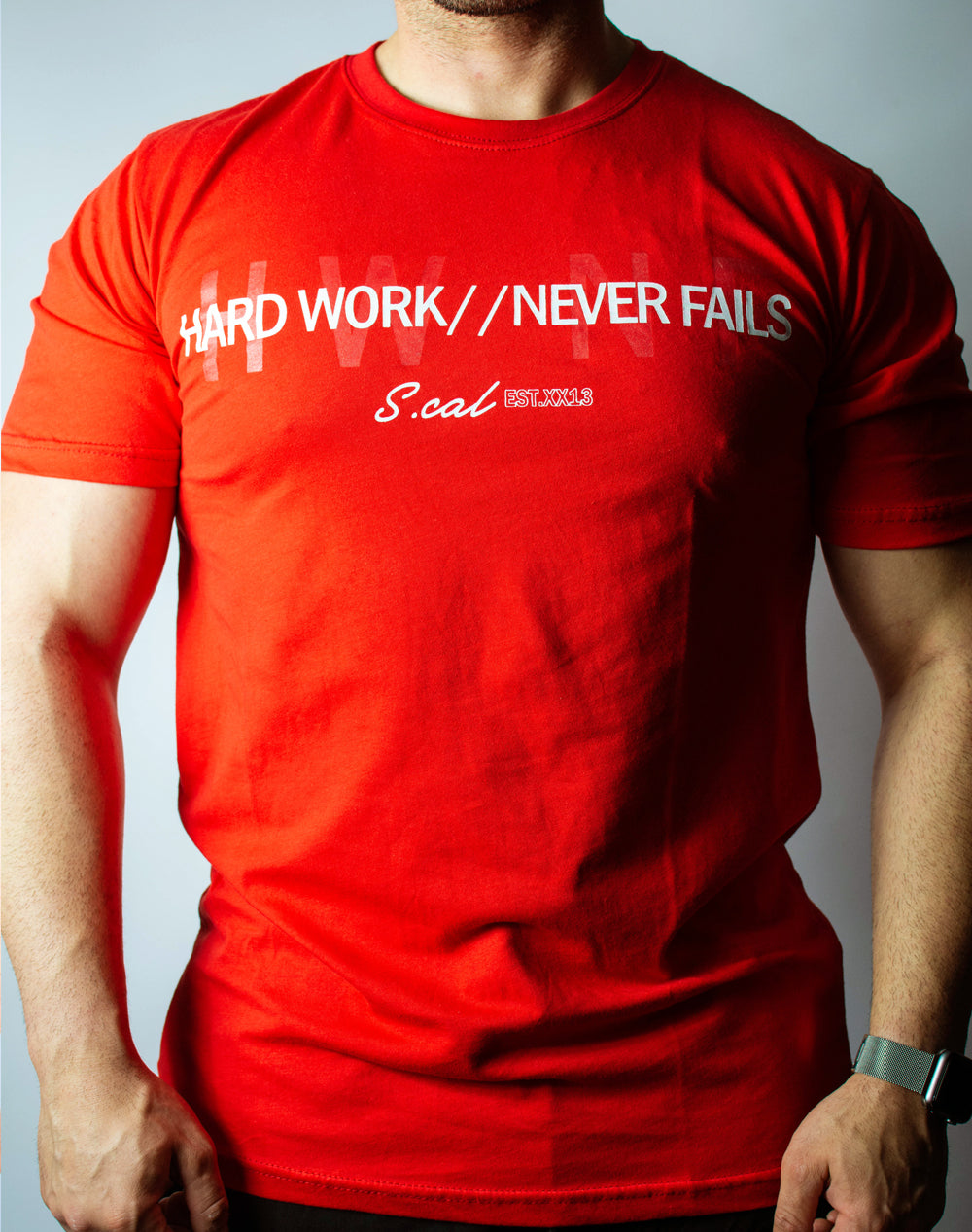 Hard Work Never Fails Tee (Red)