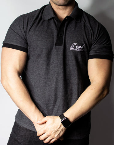 Scal Polo Tee - Charcoal Grey