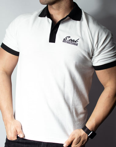 Scal Polo Tee - White
