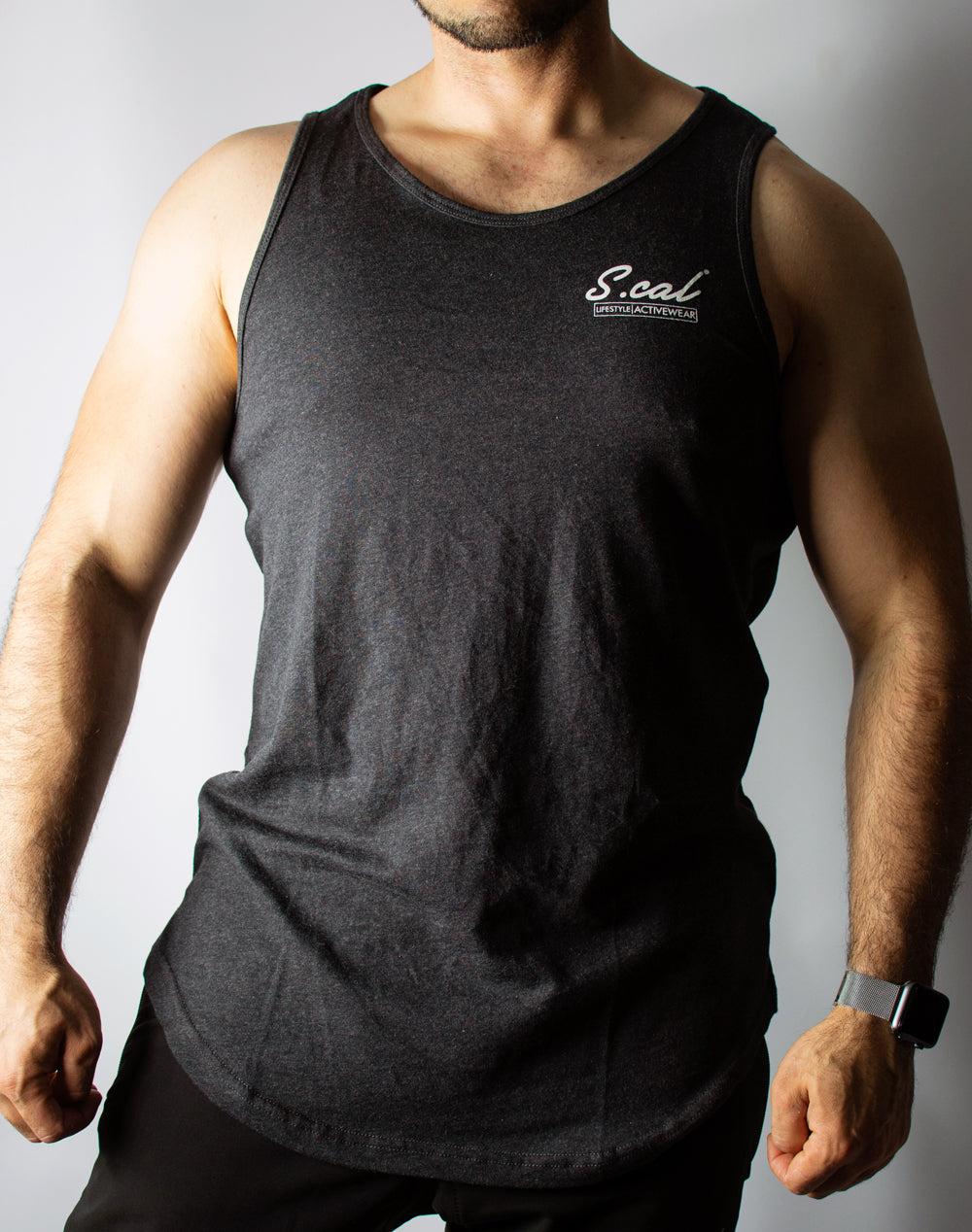 Stamped Tank - Charcoal Grey
