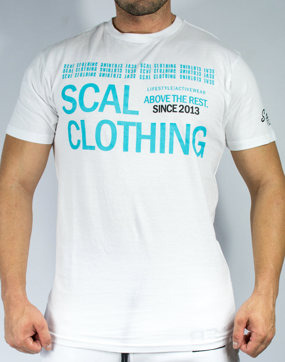 Scal Since '13 - White/Aqua - Scal Clothing