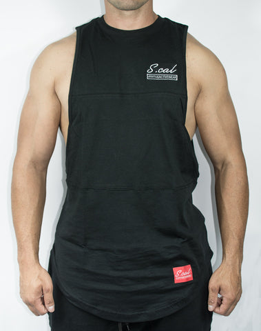 Scal Deluxe Cutoff Tee - Black - Scal Clothing - 1