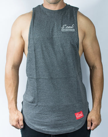 Scal Deluxe Cutoff Tee - Charcoal Grey - Scal Clothing - 1