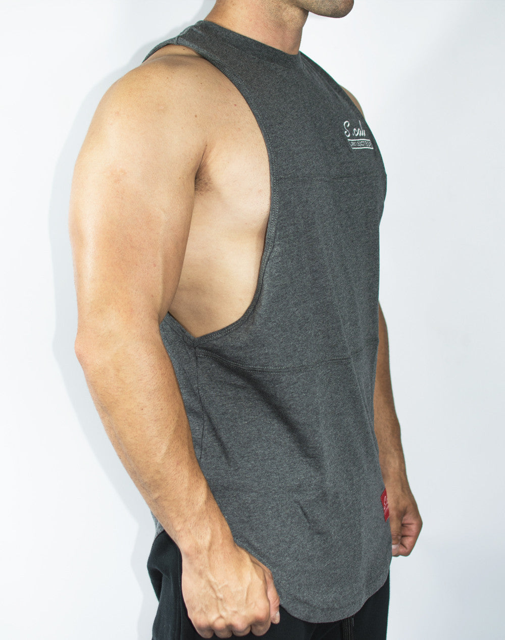 Scal Deluxe Cutoff Tee - Charcoal Grey - Scal Clothing - 2