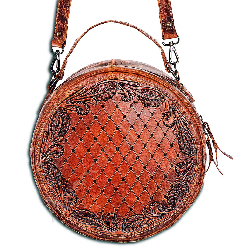 Leather Canteen Crossbody Bag