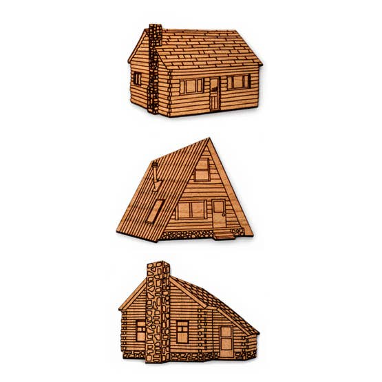Cabins In The Wood Magnet Set