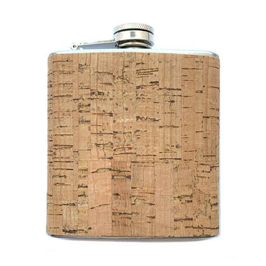6oz Cork Wood Wrapped Flask