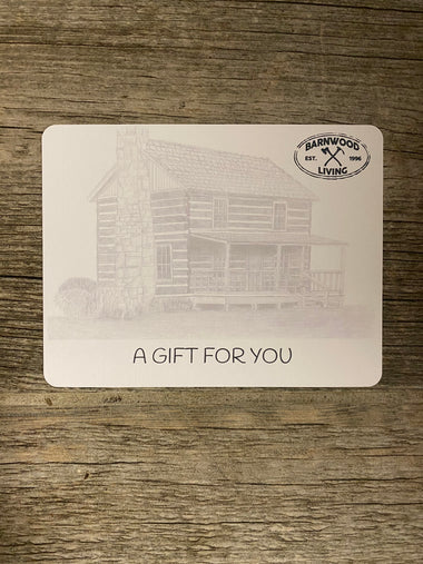 Barnwood Living Gift Cards for Gift Giving