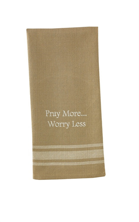 Pray More Dish Towel