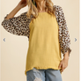 Animal Print Linen Blend Blouse