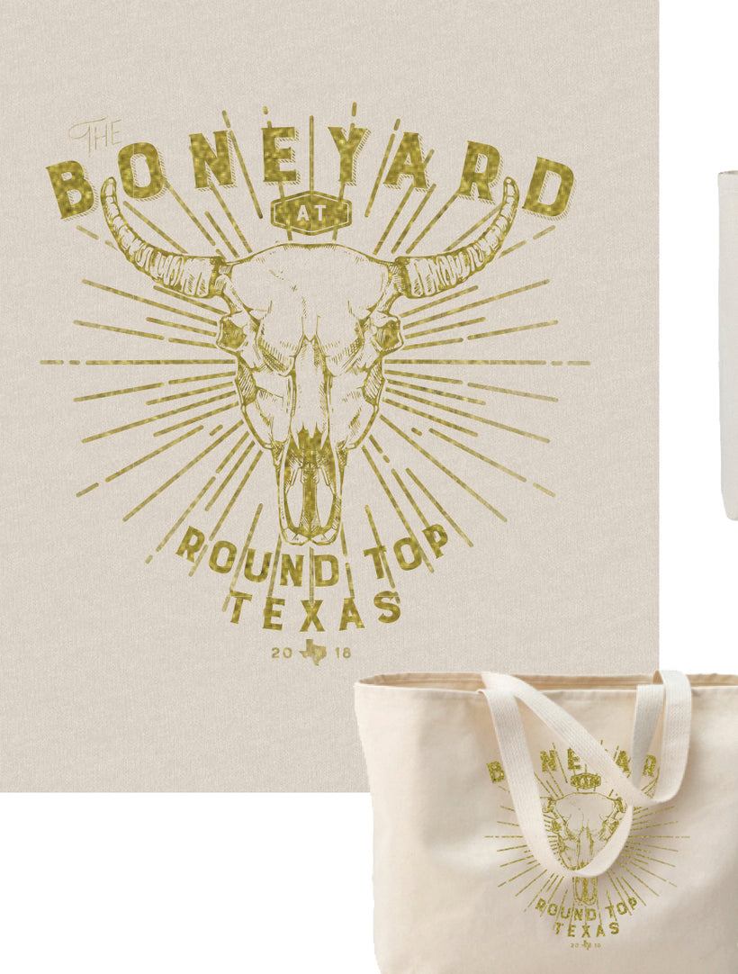 *Last Call* The Boneyard at Round Top Official Gear-Canvas Tote **SALE**