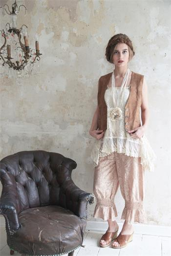 Cozy Romance- Rose- Ruffled Bottom Pants