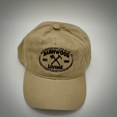 Low rise ball cap w/Barnwood Living Logo