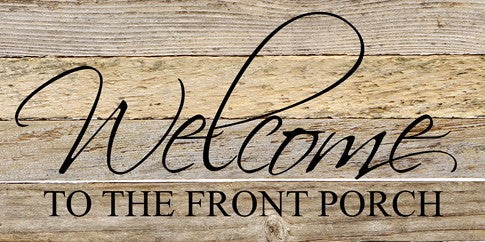 Welcome to the Front Porch