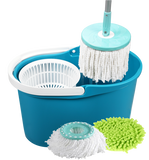 SPIN & GO PRO with 2 MICRO FIBER MOP HEADS & 1 DUSTING COVER