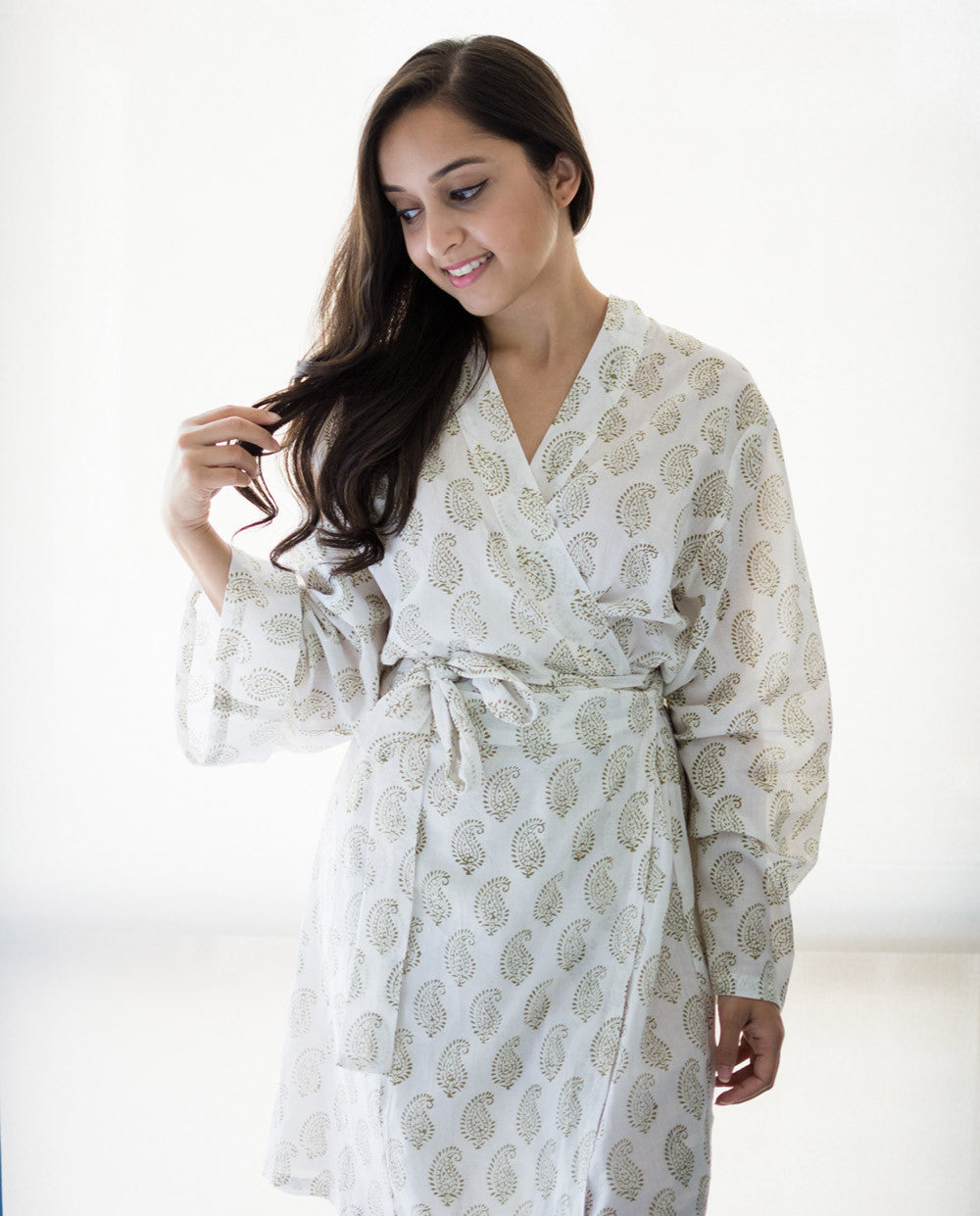 White Bridal Robe Tara
