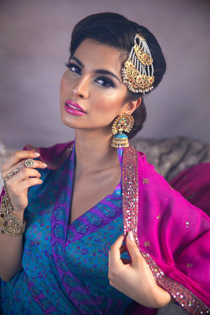 Indian Bride Blue Jewelry Earrings